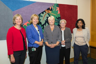 Image of APPG for Women in Transport - Lilian Greenwood MP, Ruth Cadbury MP, Baroness Jenny Randerson, Baroness Margaret Prosser, Rupa Huq MP