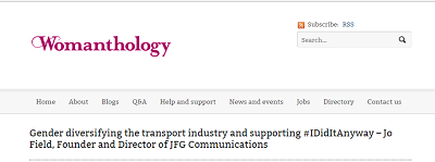 Image of gender diversifying the transport industry and supporting #IDidItAnyway article in Womanthology