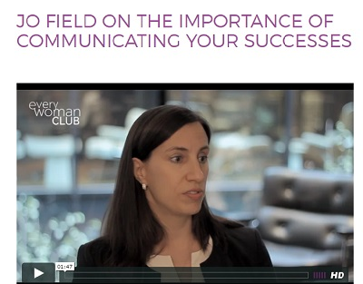 image of Jo Field video on everywoman.com