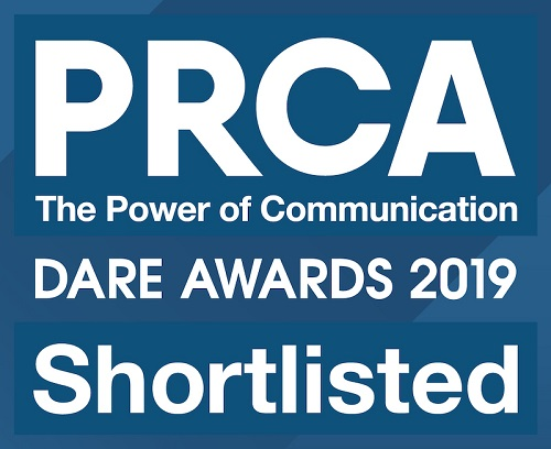 Image of PRCA Dare awards shortlist 2019 badge