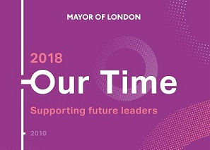 Image of the Mayor of London's our time initiative, supporting women into leadership roles