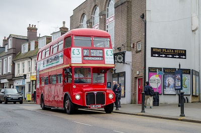Image of Sevenoaks vintage bus, joint winner of the Transport Planning Society's People's Award