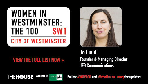 Jo Field, one of the 100 most influential women in Westminster