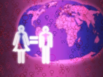 Illustration of Heart pledge gender equality.