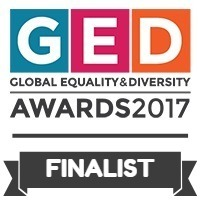 Image of Global Equality and Diversity awards finalist logo