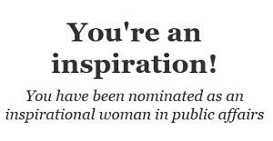Image of Inspirational Woman in Public Affairs nomination