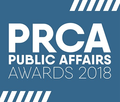 Image of PRCA public affairs awards 2018 logo